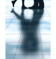 Lovers shadow vector image vector image