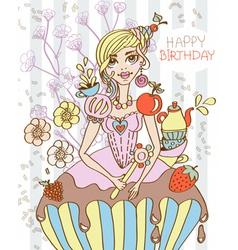 sweet queen vector image vector image