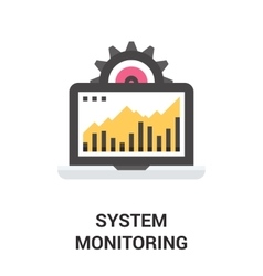 system monitoring icon vector image vector image