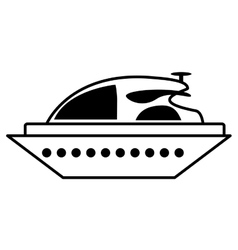 Yacht luxury transport isolated icon vector