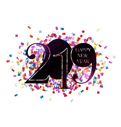 2019 happy new year background vector