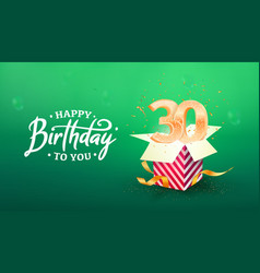 30 years anniversary banner template vector image