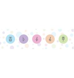 5 treble icons vector