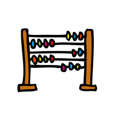 Abacus school isolated icon vector