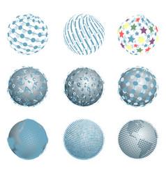 Abstract blue balls vector