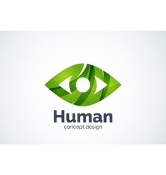 Abstract business company human eye logo template vector image