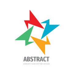abstract concept logo social media sign business vector image