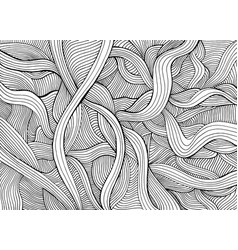 Abstract funny doodle style with many intricate vector