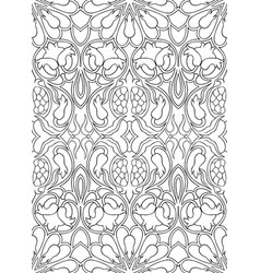 Abstract pattern with pomegranates vector