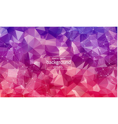 abstract red purple geometric polygonal vector image