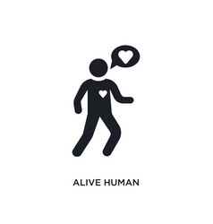 Alive human isolated icon simple element from vector