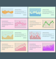 analytics statistic collection vector image