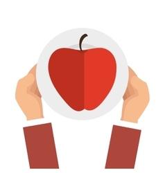 Apple fresh fruit isolated vector