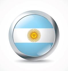 Argentina flag button vector image