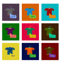 Assembly of flat shading style icon sale t-shirt vector