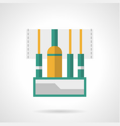 audio connectors flat color icon vector image