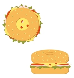 Bagel sandwich vector