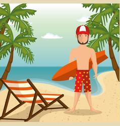 Beach vacation design vector