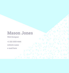 Business card template in the style of memphis vector