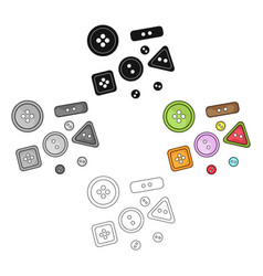 buttons for clothessewing or tailoring tools kit vector image