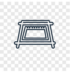 calendar concept linear icon isolated on vector image