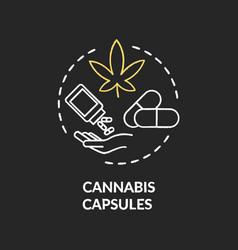 cannabis capsule chalk rgb color concept icon vector image