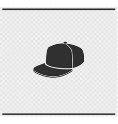 cap icon black color on transparent vector image