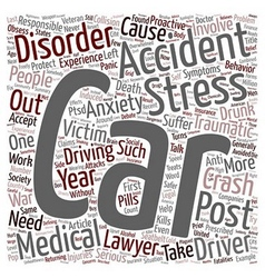Car Accident Article Car Accidents Post Traumatic vector