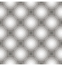 Circle gradient grey pattern background vector image