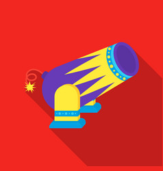 Circus cannon icon in flat style isolated on white vector
