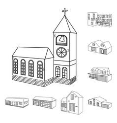 city and construction vector image