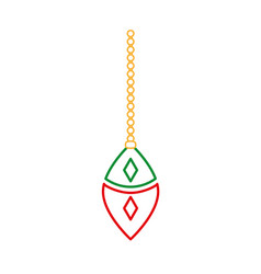 Color line oval ball hanging merry christmas vector
