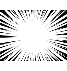 Comic book radial lines comics background with vector