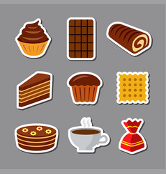 confectionery icon set vector image