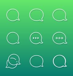 Contour Talk bubble comment and message logo icons vector image