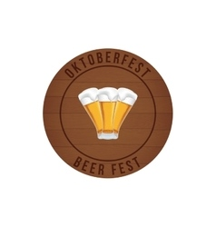 Cute Oktoberfest label vector image