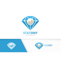 Diamond and graph logo combination jewelry vector