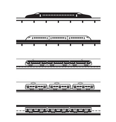 different types of passenger trains vector image
