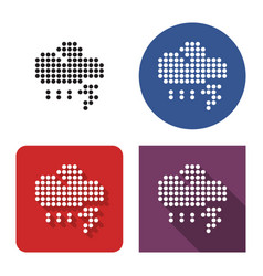 dotted icon thunderstorm in four variants with vector image