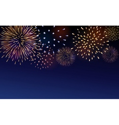 Firework bursting sparkle background set vector image
