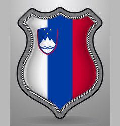 flag of slovenia badge and icon vector image