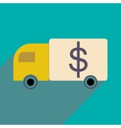 Flat with shadow icon Special Vehicles dollar vector