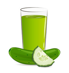 Fresh vegetable juice vector
