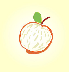 fruit apple or quince sketch icon isolated on vector image