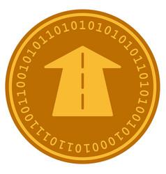 Future road digital coin vector