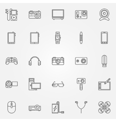 Gadgets and devices icons vector image