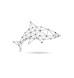 Geometric shark design silhouette vector image