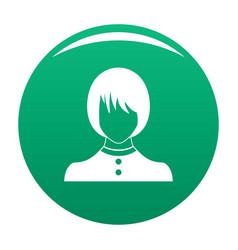 Girl user icon green vector
