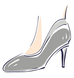 gray women shoes on high heel color on white vector image