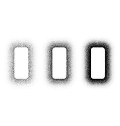 Grunge spray stencil round frames gradient ink vector